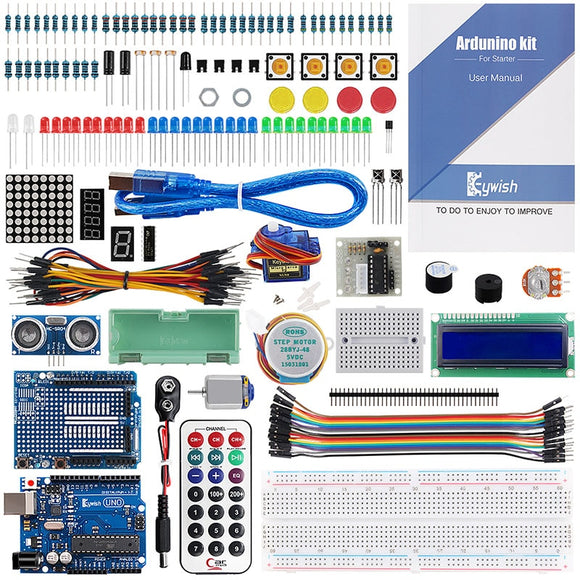 Arduino UNO R3 Super Starter Kit With SG90 Electronics For Beginners With 17 Lessons