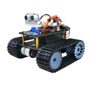 Arduino Panther Tank With Ultrasonic Obstacle Avoidance And Gravity Sensing Control