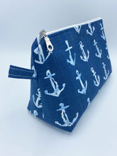 Load image into Gallery viewer, Classic Cosmetic - Navy Anchors