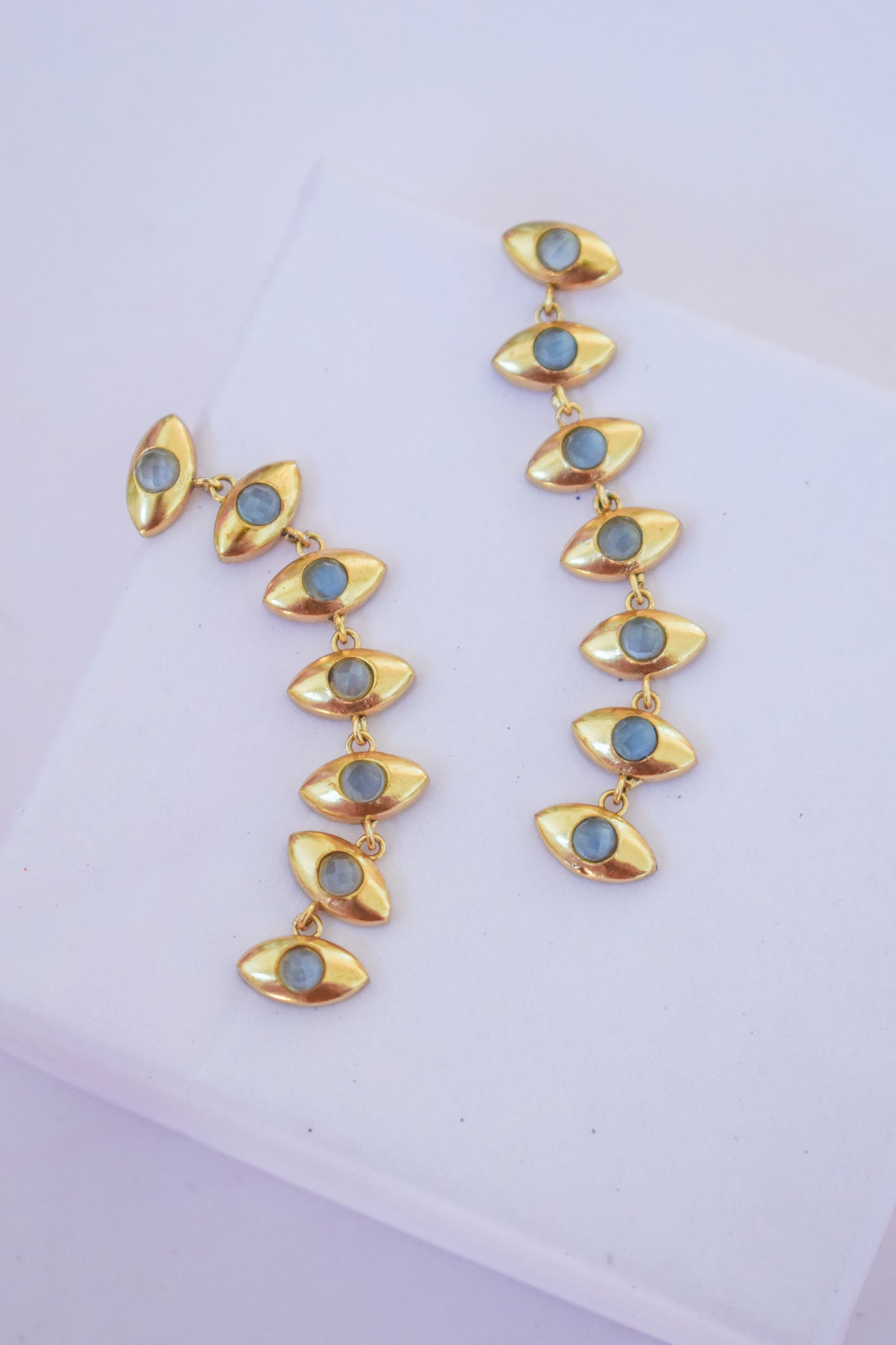 7 Eye Dangle Earrings