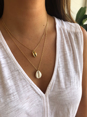 Small Gold Cowrie Necklace