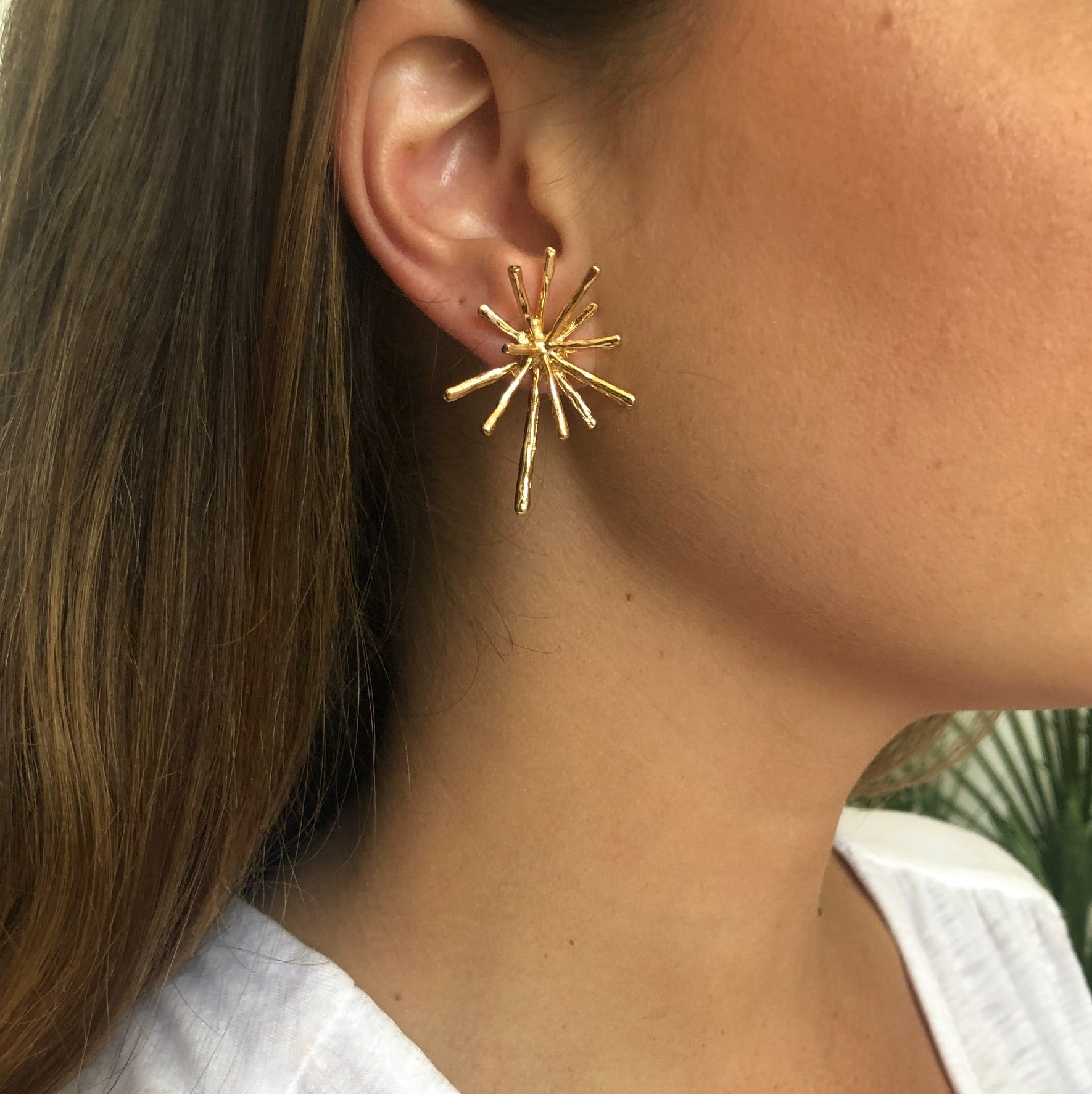 Gold Burst Earrings