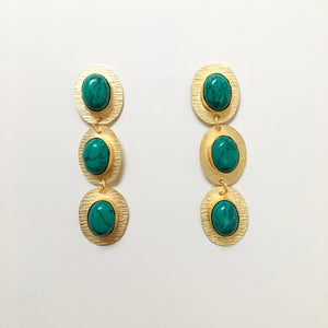 3 Turquoise Drop Earrings