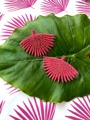 Pink Agave Earrings