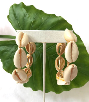 Large Cowrie Shell Hoops