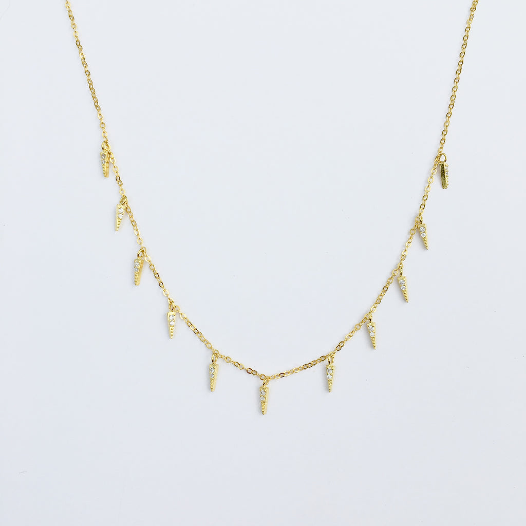 Pavé Spike Necklace