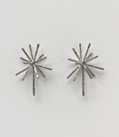 Silver Burst Earrings