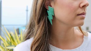 Seafoam Bolt Earrings