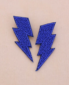 Electric Blue Bolt Earrings