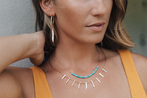 Turquoise Spacer Necklace