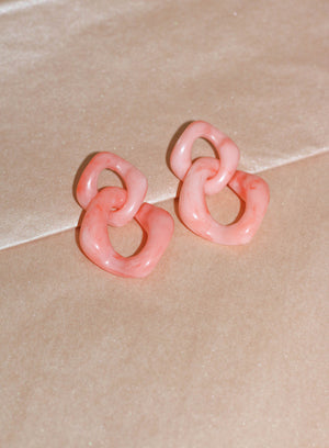 Pink Link Earrings