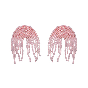Pink Waterfall Rainbow Earrings