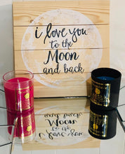 Load image into Gallery viewer, 14 oz Soy candle from Beach Collection with gold foiled labels.