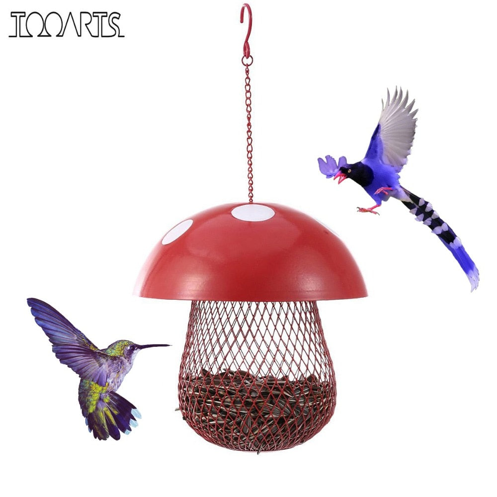 Mushroom-shaped Wild Bird Seed Feeder