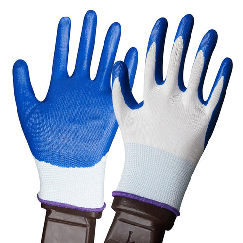 Safety Nylon With Nitrile Coated Glove
