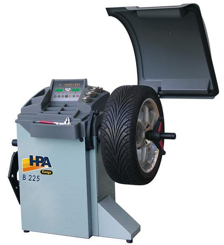 B 225 A - Microprocessor Lcd Balancer, Automatic Start, Automatic Measurments, Wheel Guard Included. 40Mm Ø