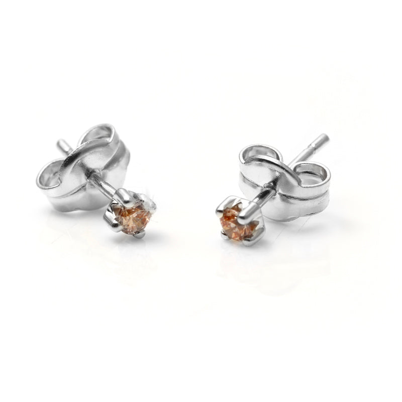 PENDIENTES SINGLE CHAMPAGNE SILVER