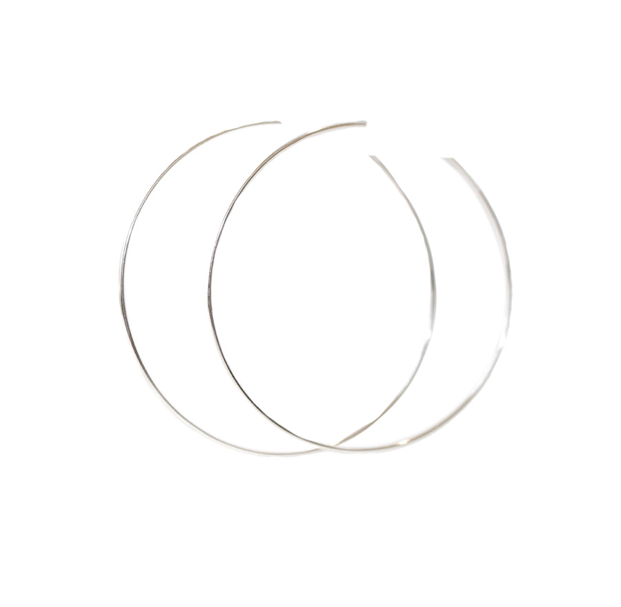 LARGE HOOPS SILVER