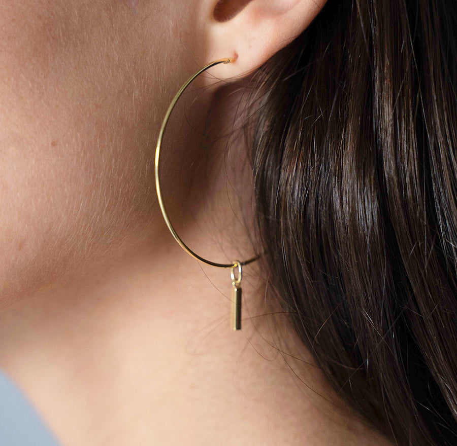 LARGE HOOPS GOLD