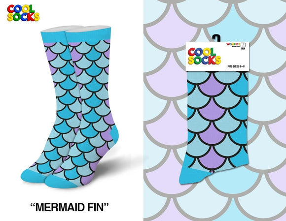 Mermaid Crew Socks Fits Sizes 5-10