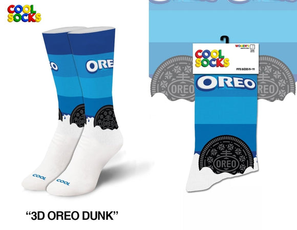 Dunking Oreo Cookies Crew Socks Fits Sizes 5-10