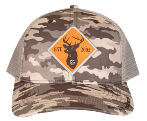 Simply Southern Guys Hat - Camo Buck