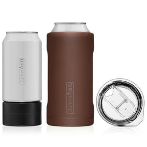 BruMate Hopsulator Trio, 3-in-1 Can Cooler - Matte Pecan - Turnmeyer Galleries