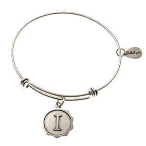 Bella Ryann Bangle Bracelet - Letter I - Turnmeyer Galleries
