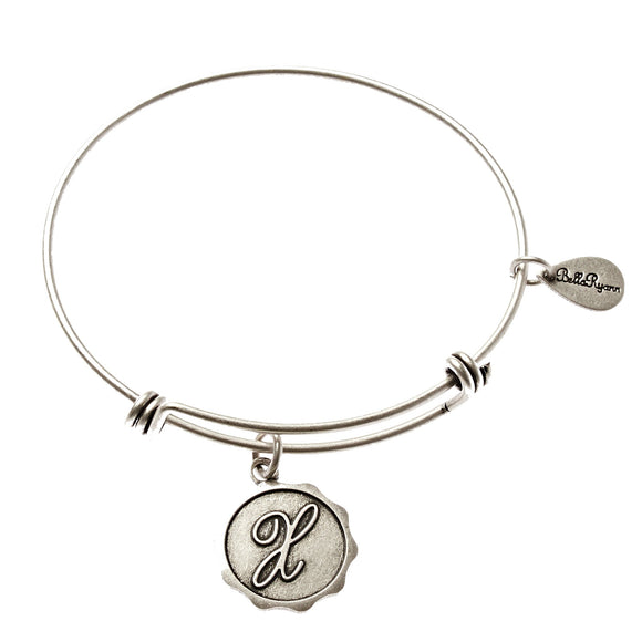Bella Ryann Bangle Bracelet - Letter X - Turnmeyer Galleries