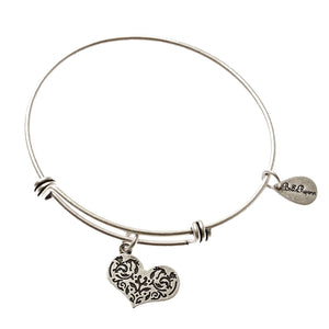 Bella Ryann Bangle Bracelet - Heart - Turnmeyer Galleries