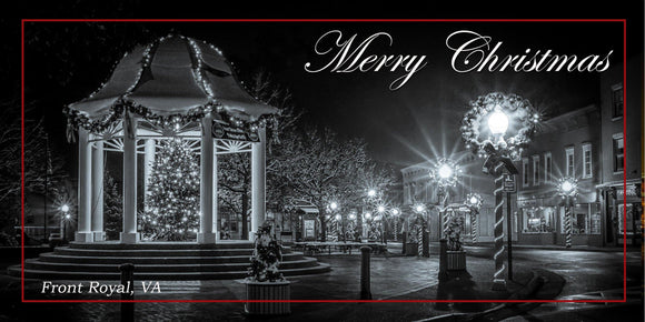 Front Royal at Christmas Holiday Cards in Black and White