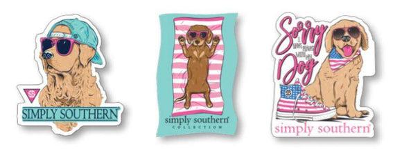 Simply Southern Sticker Decal 3 pack - Dog