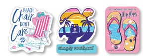 Simply Southern Sticker Decal 3 pack - Beach