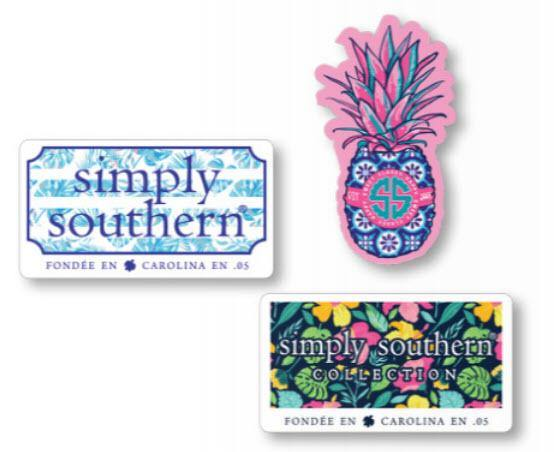 Simply Southern Sticker Decal 3 pack - Tropical