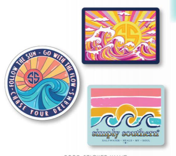 Simply Southern Sticker Decal 3 pack - Wave