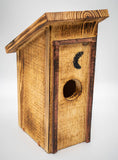Handmade Wood Out House Bird House