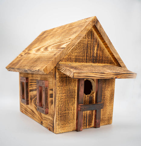 Handmade Cabin Bird House