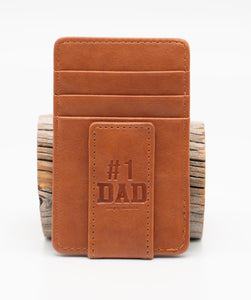 Simply Southern Guys Leather Money Clips - #1 Dad