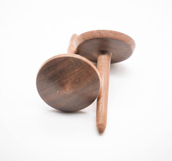 Hand Turned Wooden Tops - Natural Wood