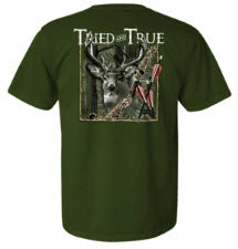 Deer Buck Bow Hunter T-shirt by Tried and True