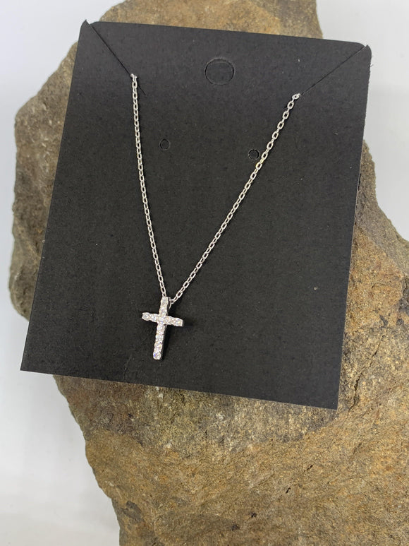 Sterling Silver Cross Necklace 925 - Turnmeyer Galleries