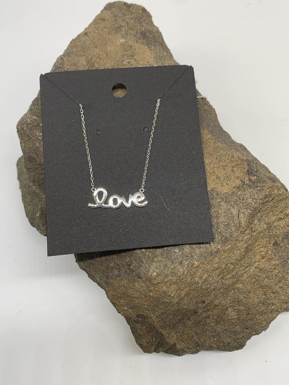 Sterling Silver Love Necklace 925 - Turnmeyer Galleries