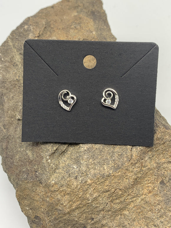Sterling Silver Heart Ear Rings 925 - Turnmeyer Galleries