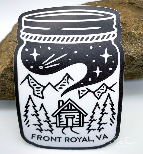 Front Royal Virginia Mason Jar Vinyl Sticker Decal