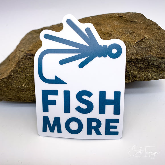 Fish More Vinyl Sticker Decal