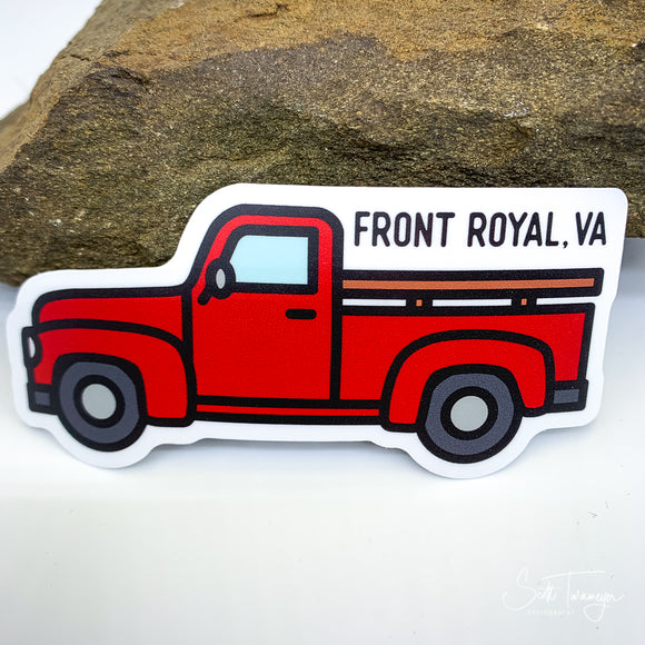 Front Royal Virginia Antique Red Truck Vinyl Sticker Decal
