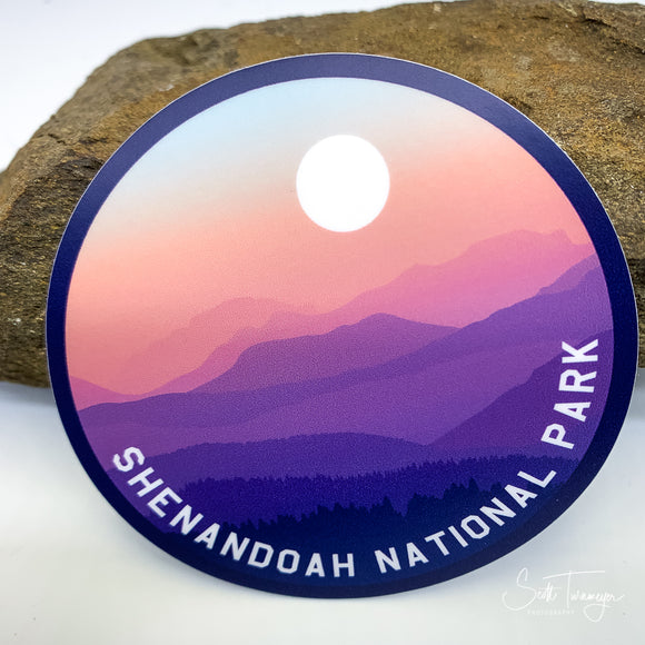 Shenandoah National Park with Mountains Vinyl Sticker Decal