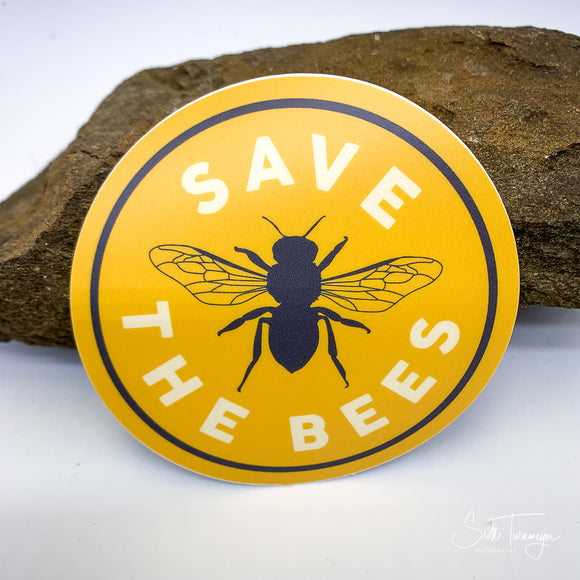 Save The Bees Vinyl Sticker Decal