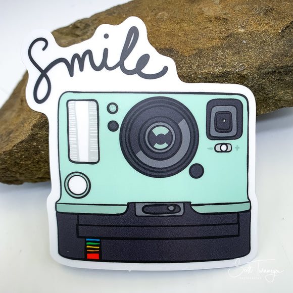 Polaroid Camera Smile Vinyl Sticker Decal