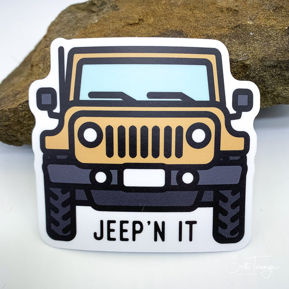 Jeep'N It Jeep Vinyl Sticker Decal